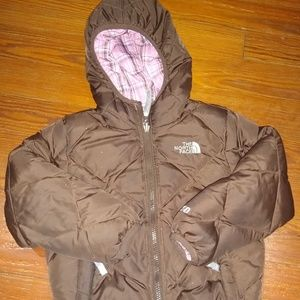 North Face Girls Reversible Jacket size 5T
